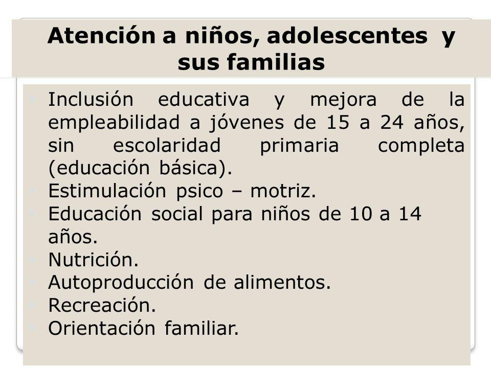 Atención a niños, adolescentes y