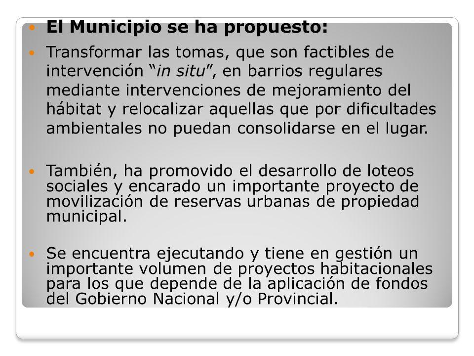 El Municipio se ha propuesto: