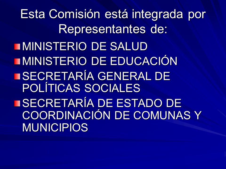 Esta Comisión está integrada por Representantes de:
