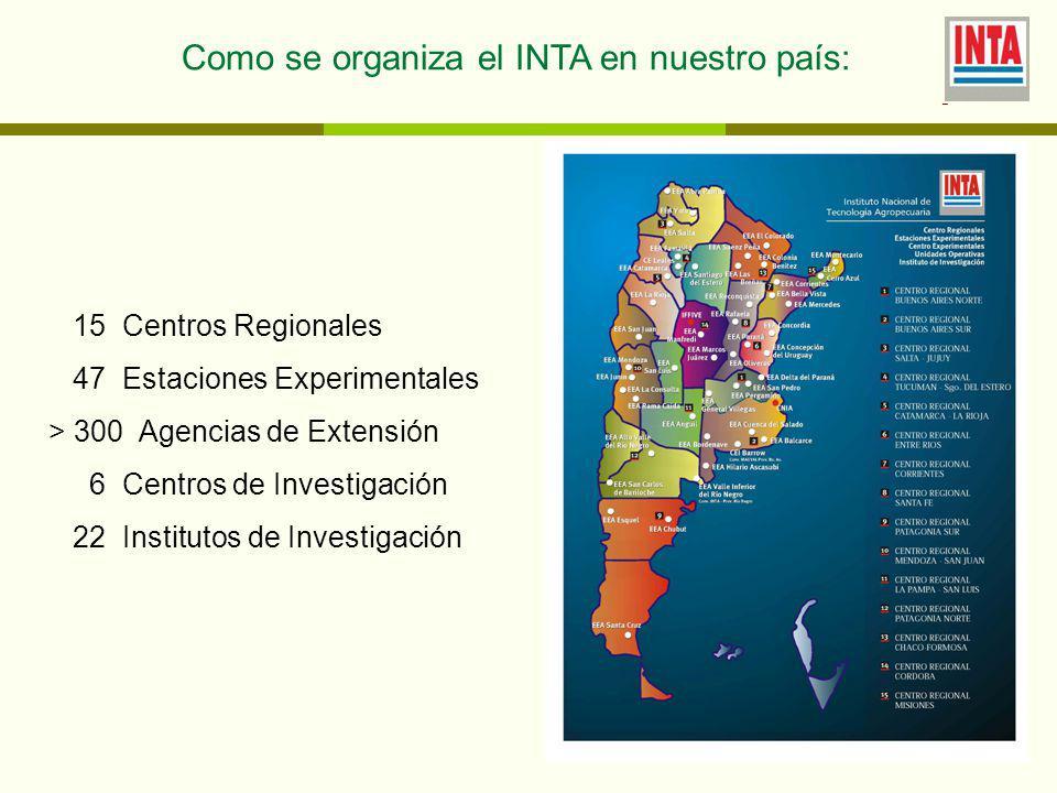 Como se organiza el INTA en nuestro país: