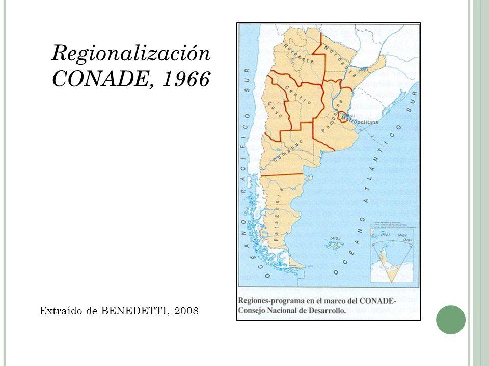 Regionalización CONADE, 1966
