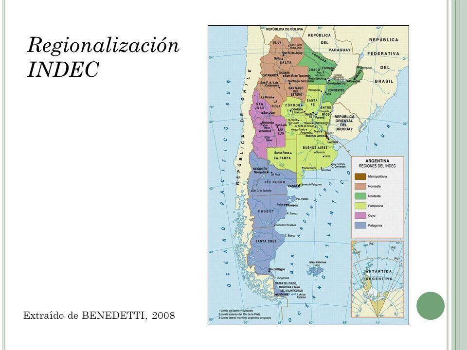 Regionalización INDEC