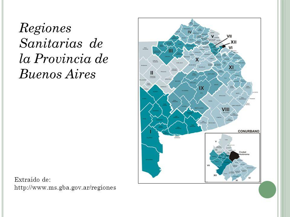 Regiones Sanitarias de la Provincia de Buenos Aires