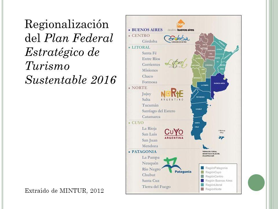Regionalización del Plan Federal Estratégico de Turismo Sustentable 2016