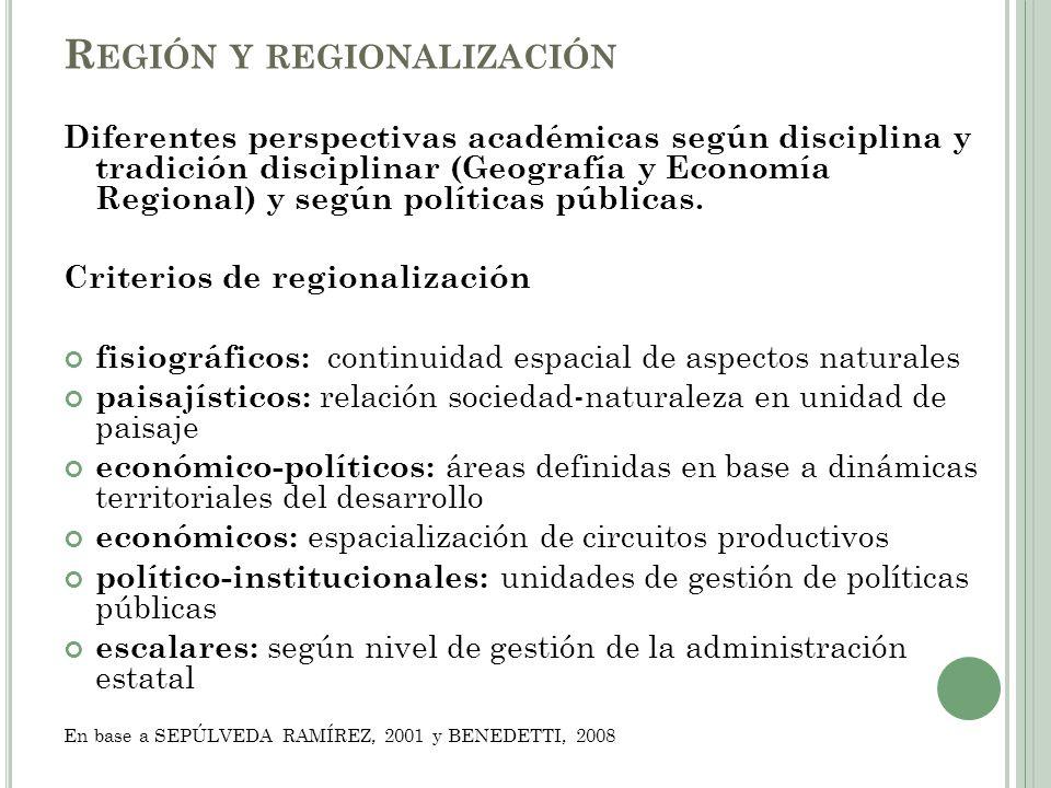 Región y regionalización