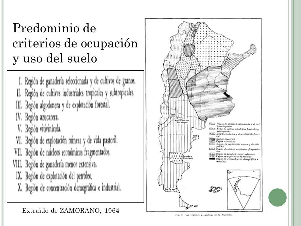 Predominio de criterios de ocupación y uso del suelo