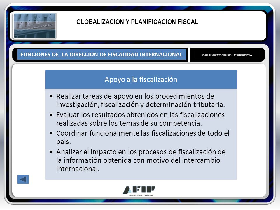 GLOBALIZACION Y PLANIFICACION FISCAL