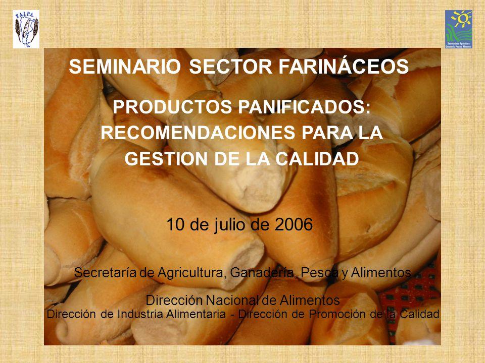 PRODUCTOS PANIFICADOS: RECOMENDACIONES PARA LA