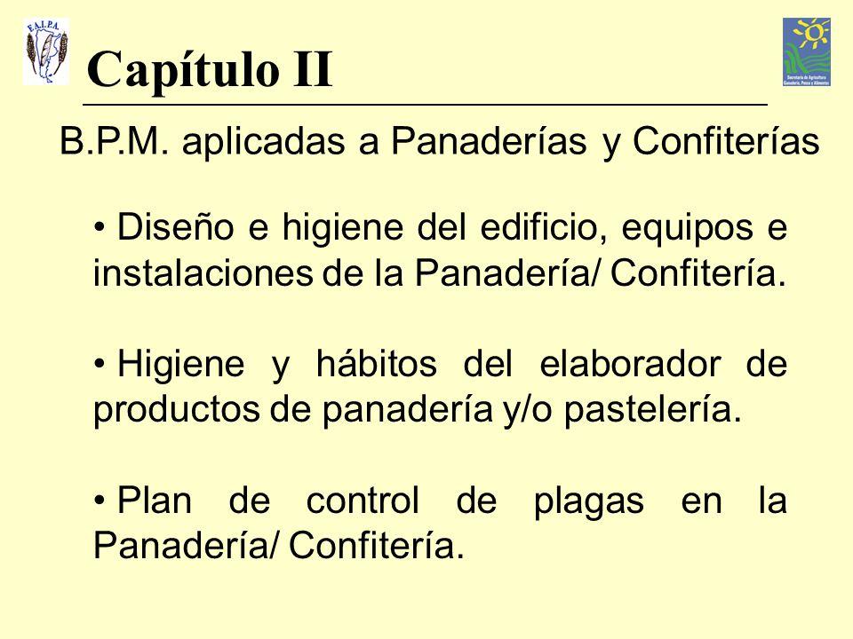 Capítulo II B.P.M. aplicadas a Panaderías y Confiterías