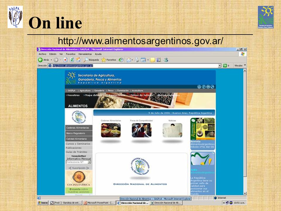 On line http://www.alimentosargentinos.gov.ar/