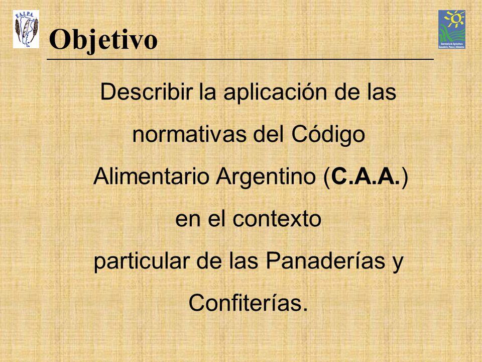 Objetivo Describir la aplicación de las normativas del Código