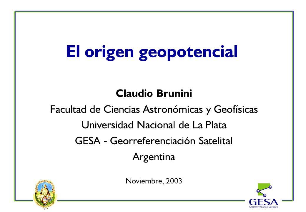 El origen geopotencial