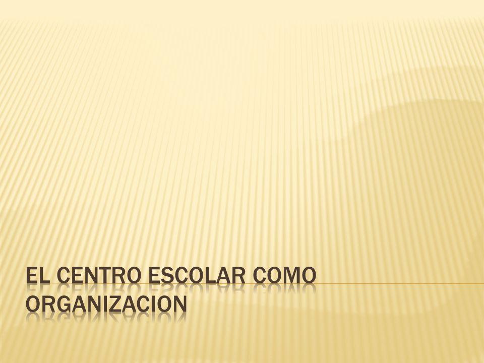 EL CENTRO ESCOLAR COMO ORGANIZACION