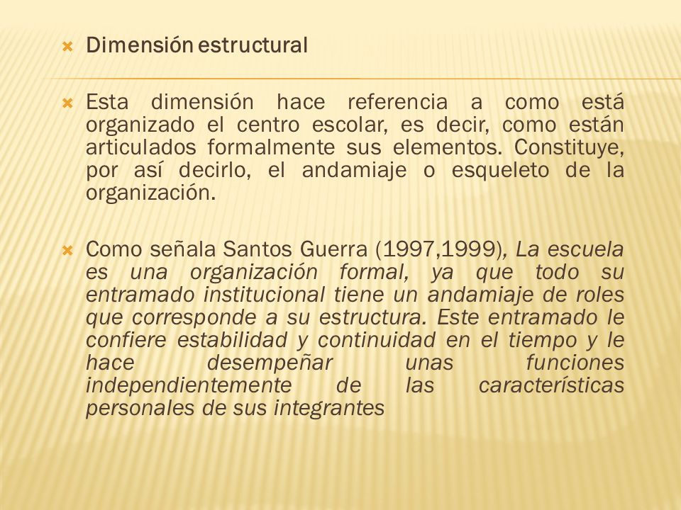 Dimensión estructural