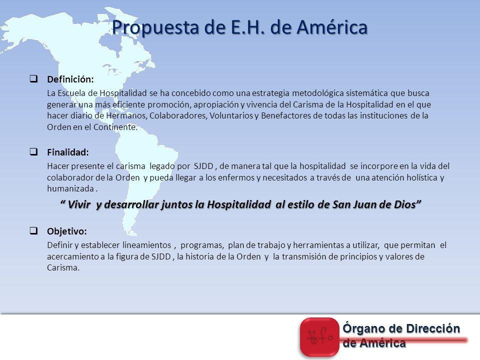 Propuesta de E.H. de América