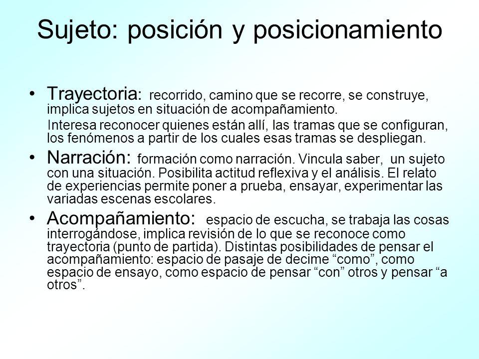 Sujeto: posición y posicionamiento