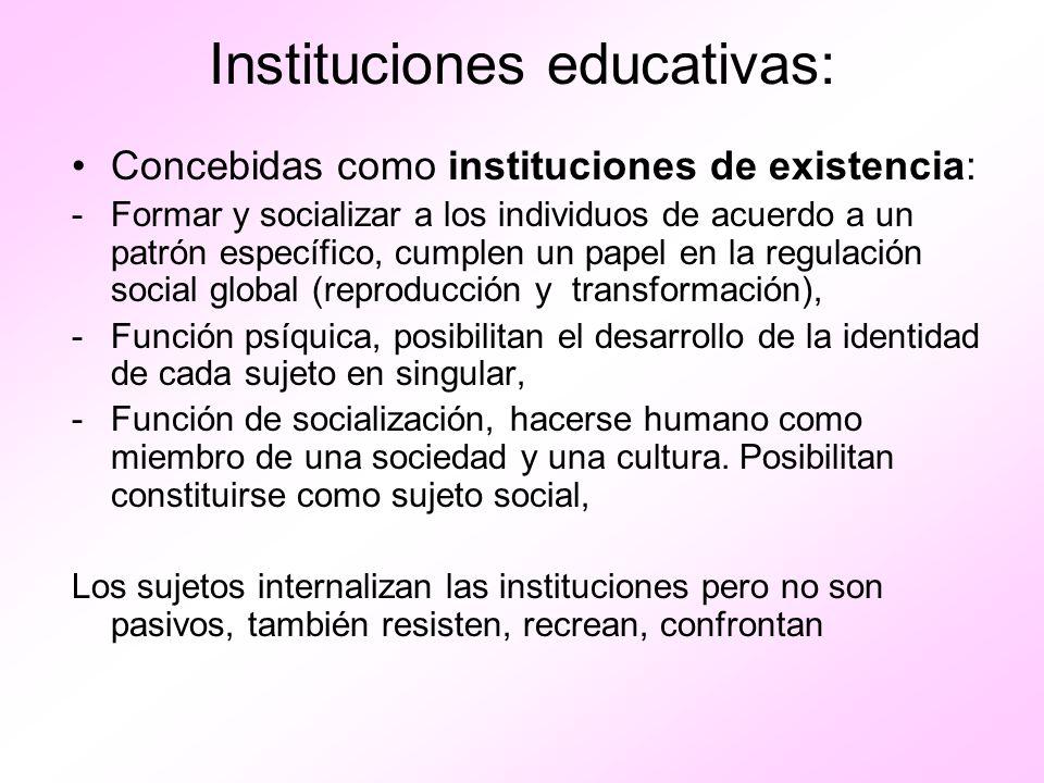 Instituciones educativas: