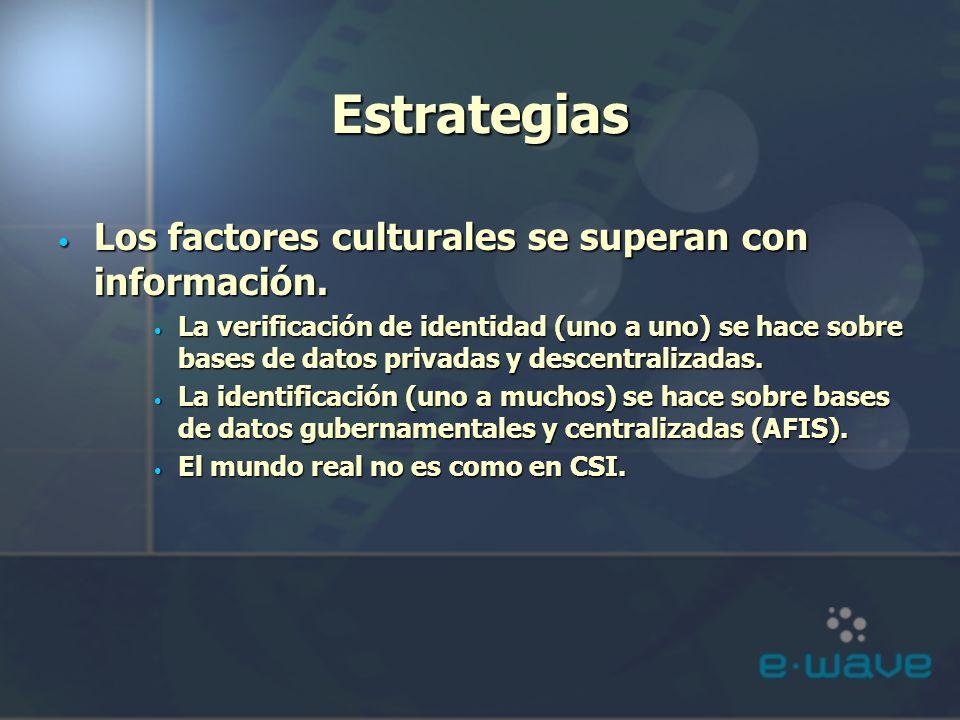 Estrategias Los factores culturales se superan con información.