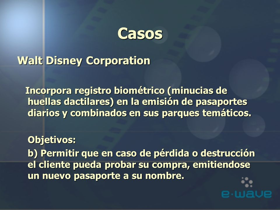 Casos Walt Disney Corporation
