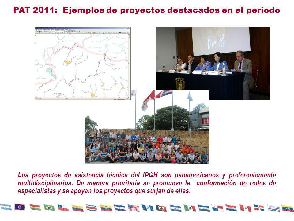 PAT 2011: Ejemplos de proyectos destacados en el periodo