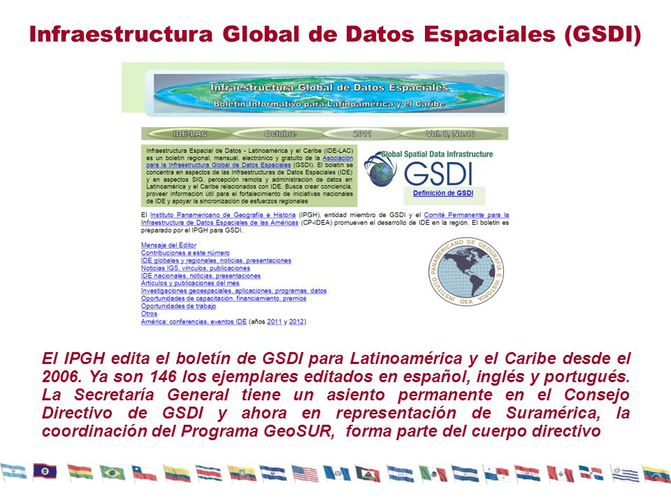 Infraestructura Global de Datos Espaciales (GSDI)