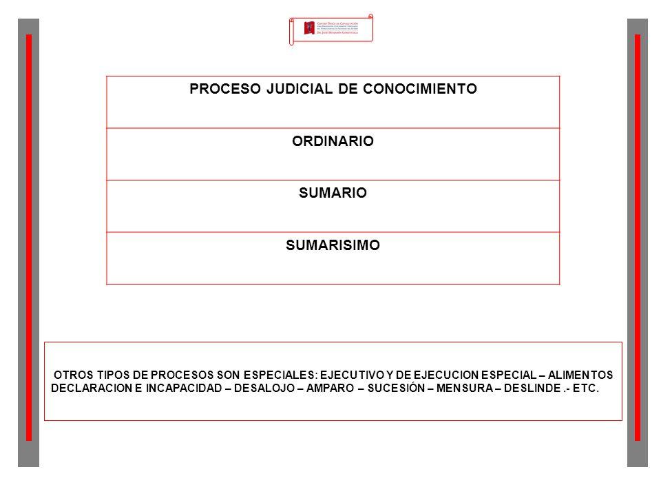 PROCESO JUDICIAL DE CONOCIMIENTO