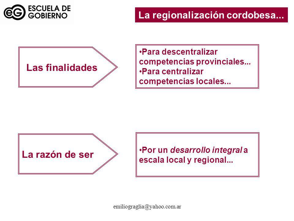 La regionalización cordobesa...