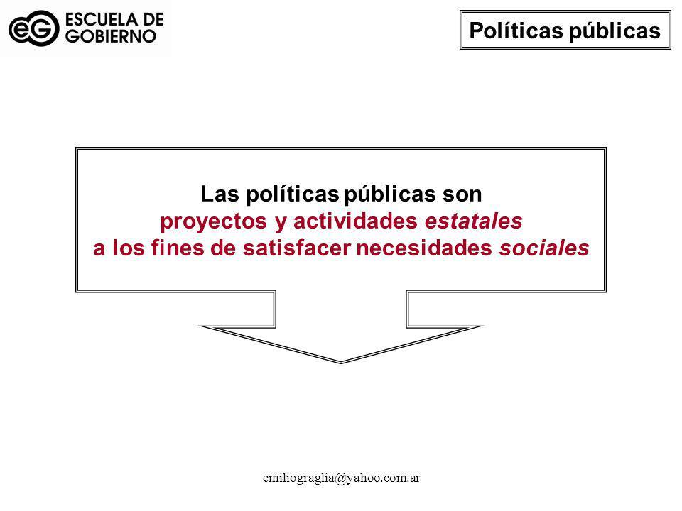 Las políticas públicas son proyectos y actividades estatales