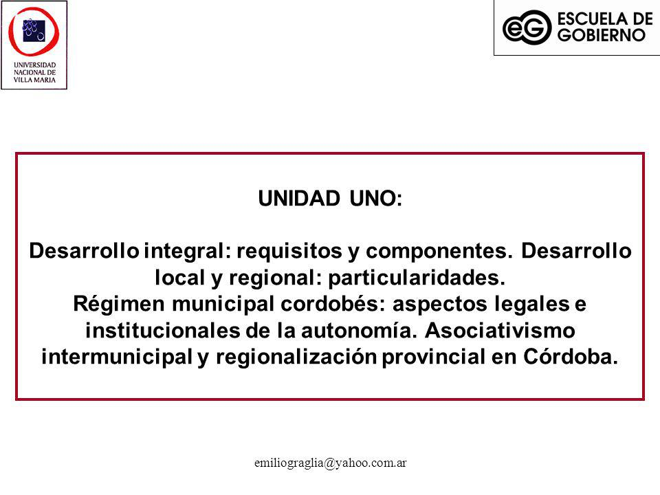 UNIDAD UNO: Desarrollo integral: requisitos y componentes
