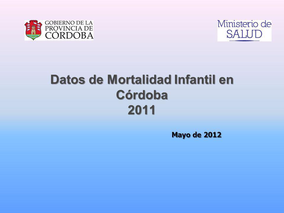 Datos de Mortalidad Infantil en Córdoba 2011