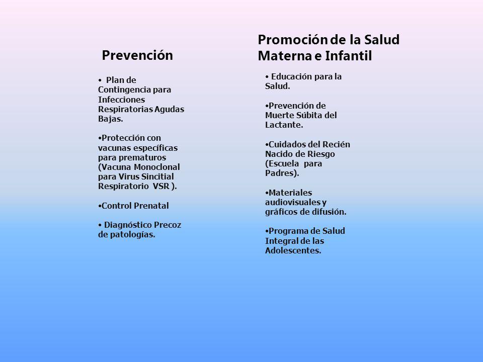 Promoción de la Salud Materna e Infantil Prevención