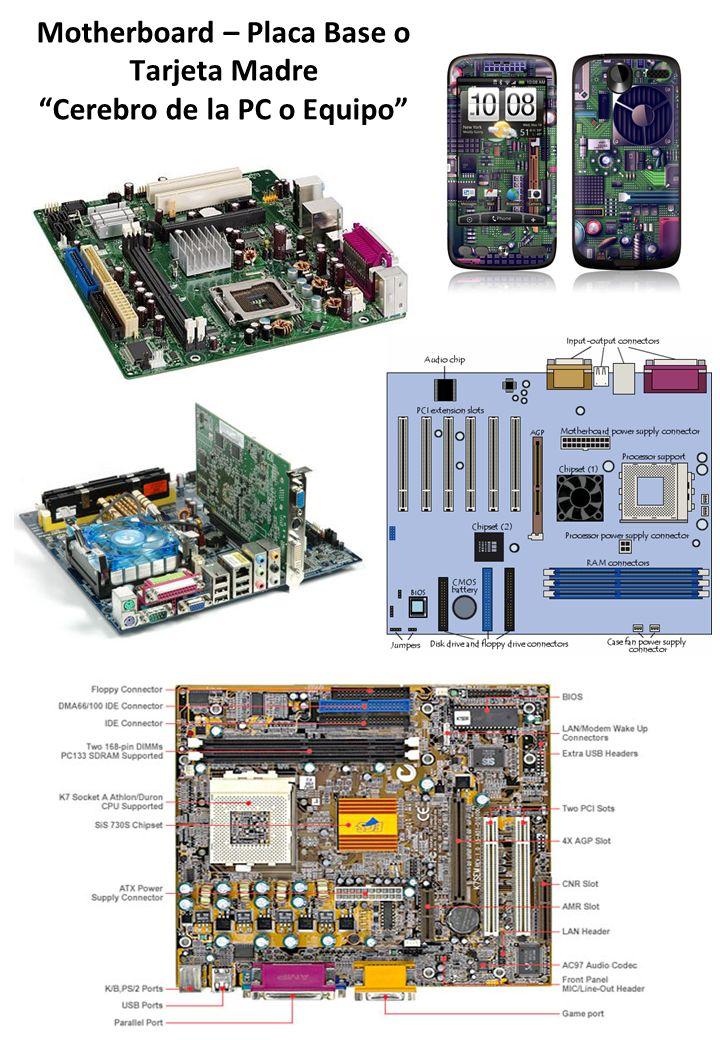 Motherboard – Placa Base o Tarjeta Madre Cerebro de la PC o Equipo