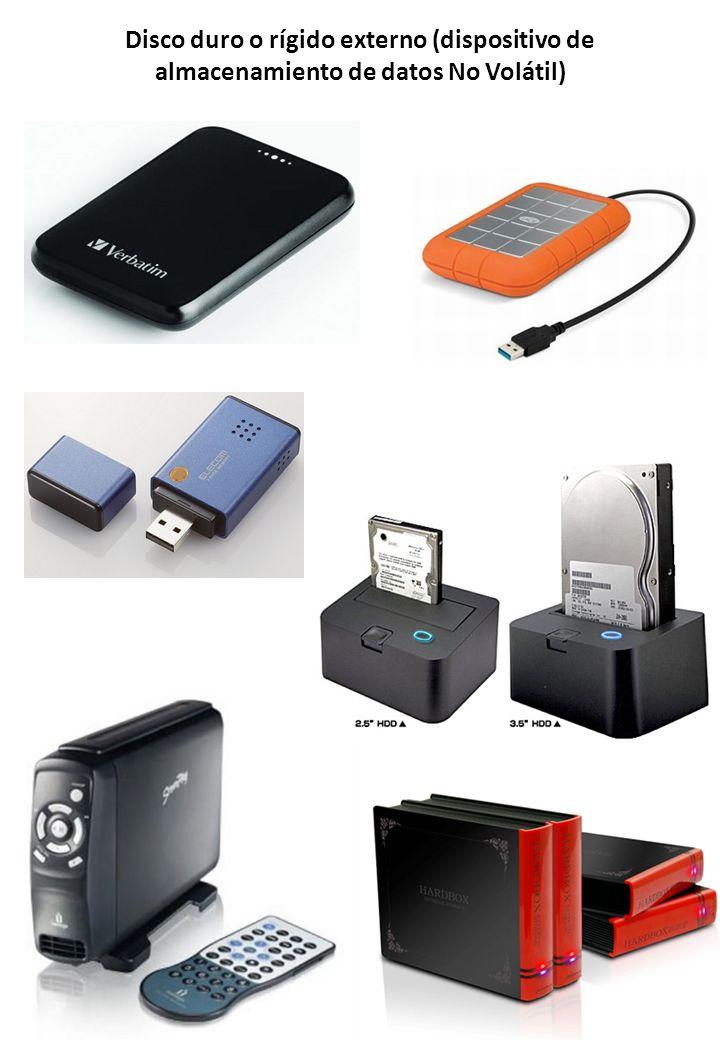 Disco duro o rígido externo (dispositivo de almacenamiento de datos No Volátil)