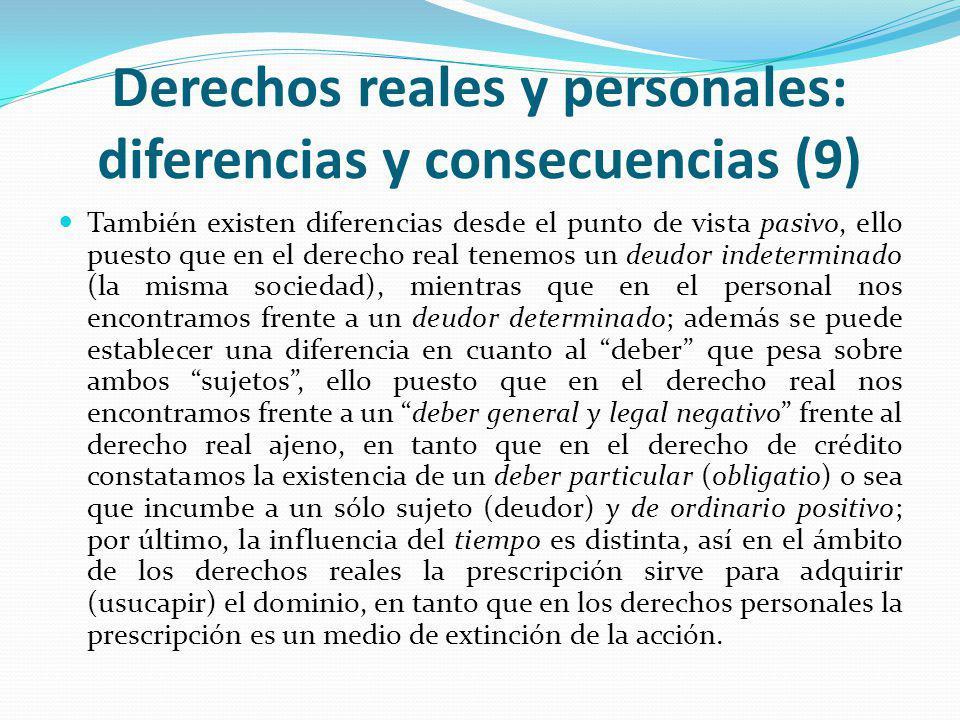 Derechos reales y personales: diferencias y consecuencias (9)