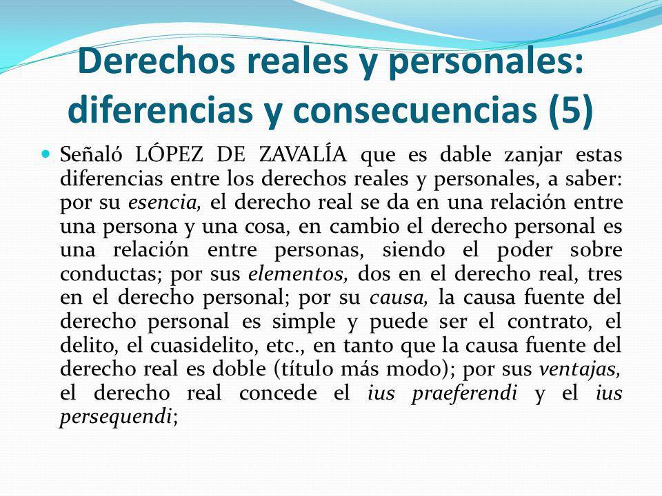 Derechos reales y personales: diferencias y consecuencias (5)
