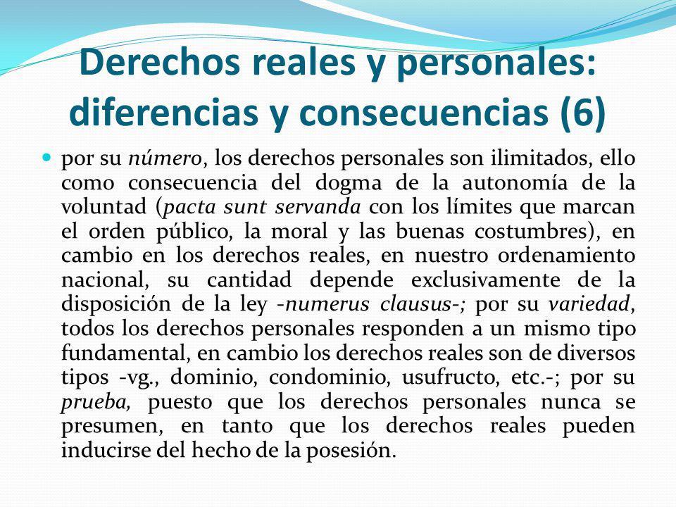 Derechos reales y personales: diferencias y consecuencias (6)