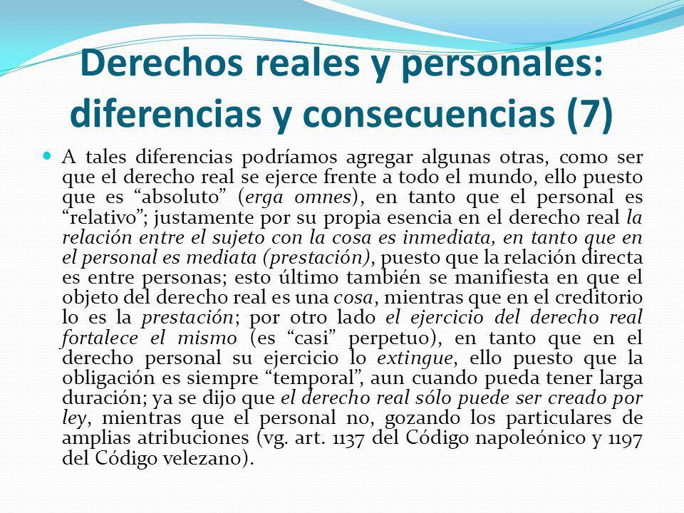 Derechos reales y personales: diferencias y consecuencias (7)
