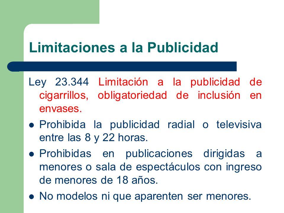 Limitaciones a la Publicidad