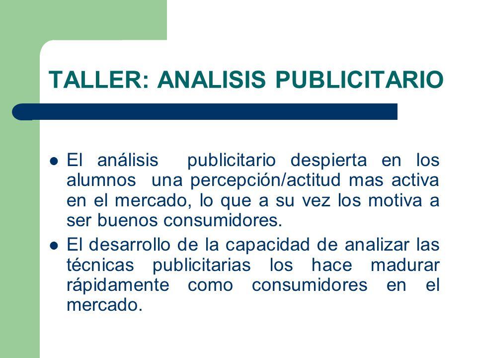 TALLER: ANALISIS PUBLICITARIO
