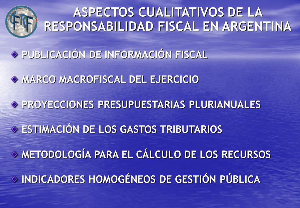 ASPECTOS CUALITATIVOS DE LA RESPONSABILIDAD FISCAL EN ARGENTINA