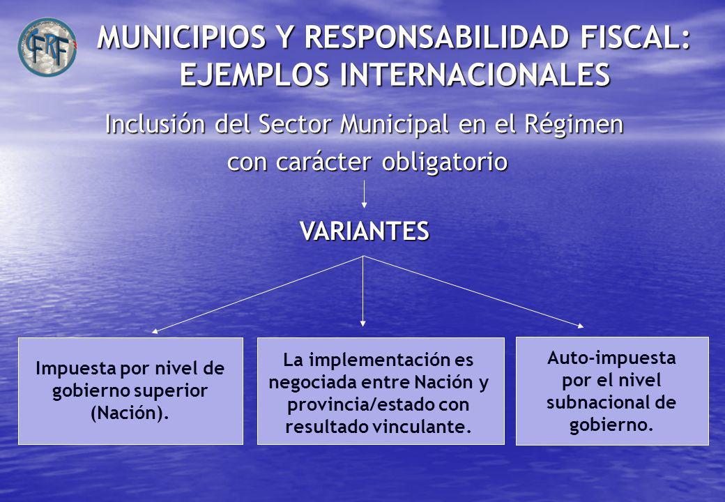 MUNICIPIOS Y RESPONSABILIDAD FISCAL: EJEMPLOS INTERNACIONALES