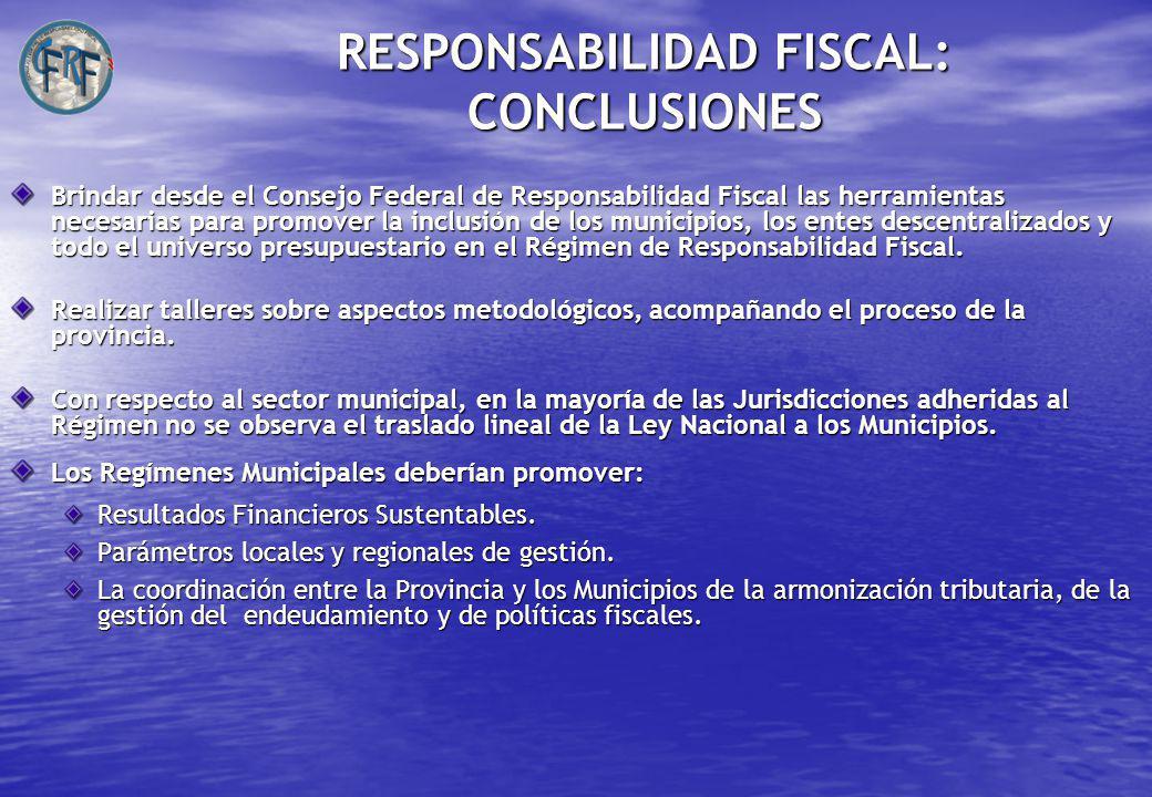 RESPONSABILIDAD FISCAL: CONCLUSIONES