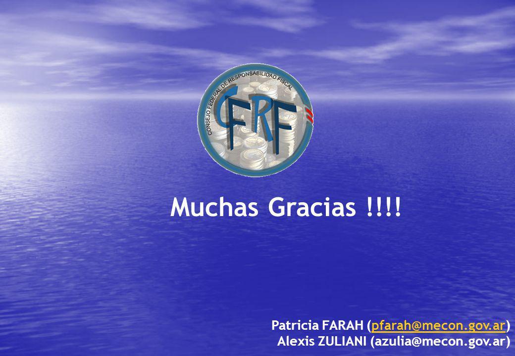 Muchas Gracias !!!! Patricia FARAH (pfarah@mecon.gov.ar)