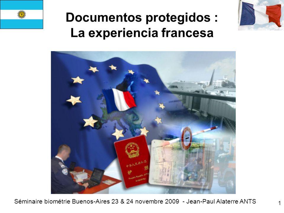 Documentos protegidos : La experiencia francesa