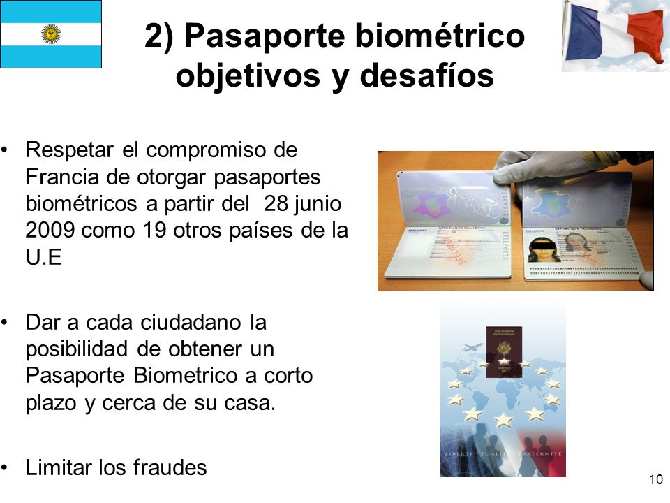 2) Pasaporte biométrico objetivos y desafíos