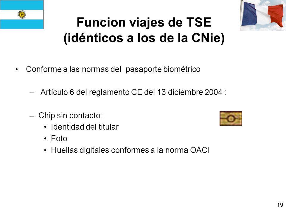 Funcion viajes de TSE (idénticos a los de la CNie)
