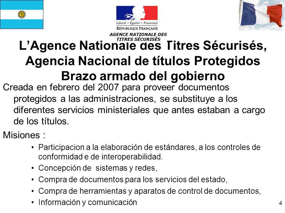 L'Agence Nationale des Titres Sécurisés, Agencia Nacional de títulos Protegidos Brazo armado del gobierno
