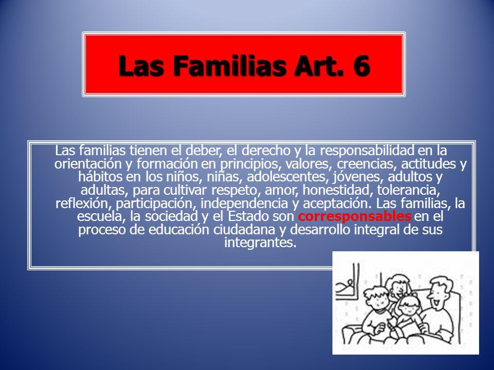 Las Familias Art. 6