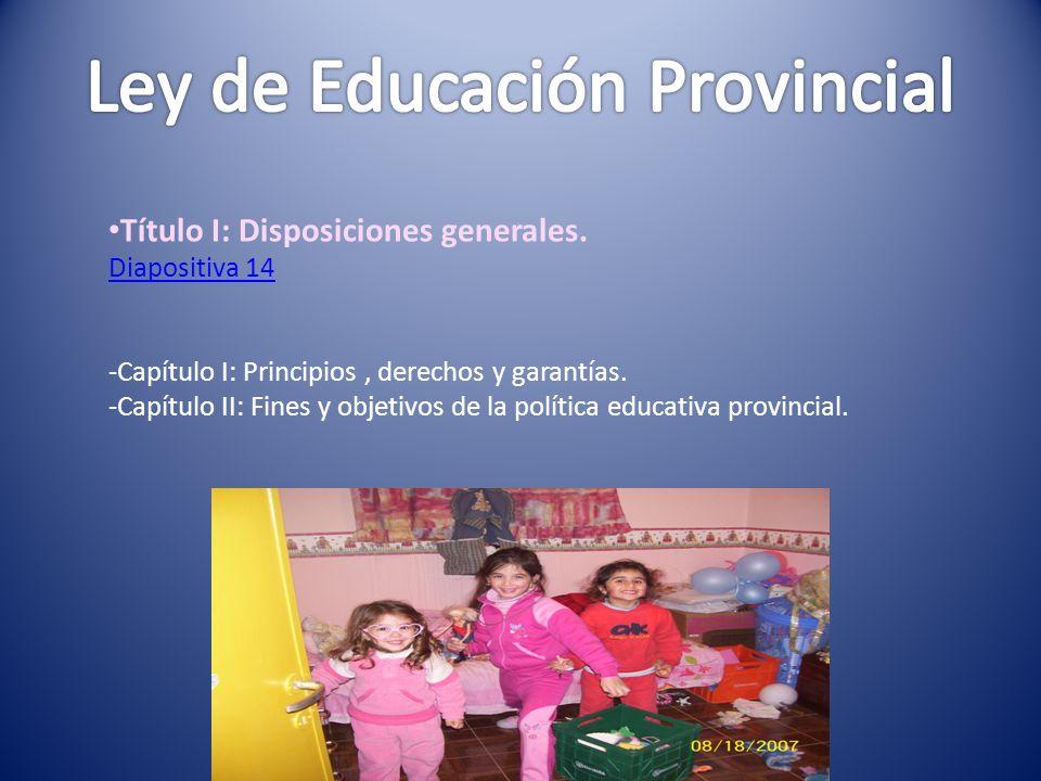 Ley de Educación Provincial