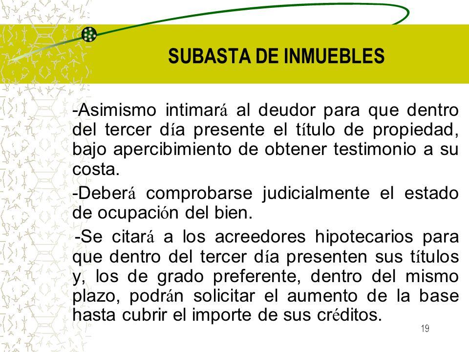 SUBASTA DE INMUEBLES